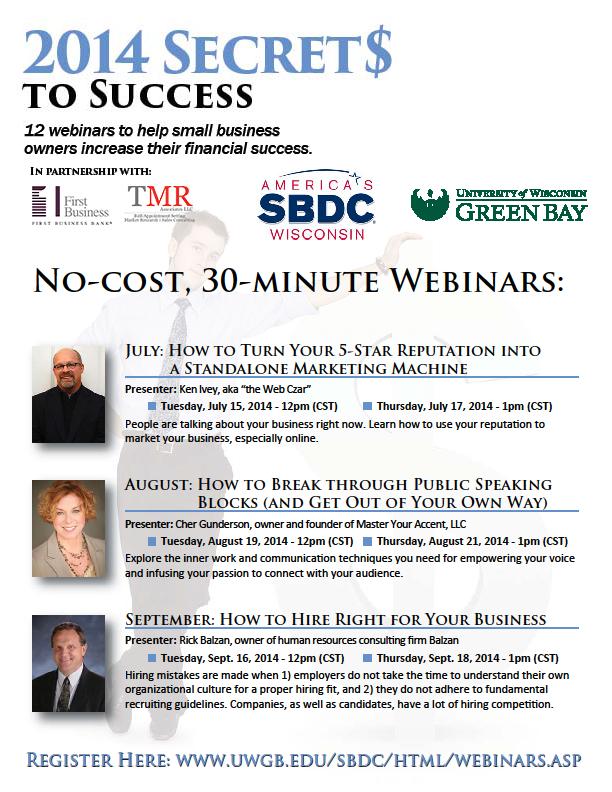 No-Cost 30-Minute Webinars